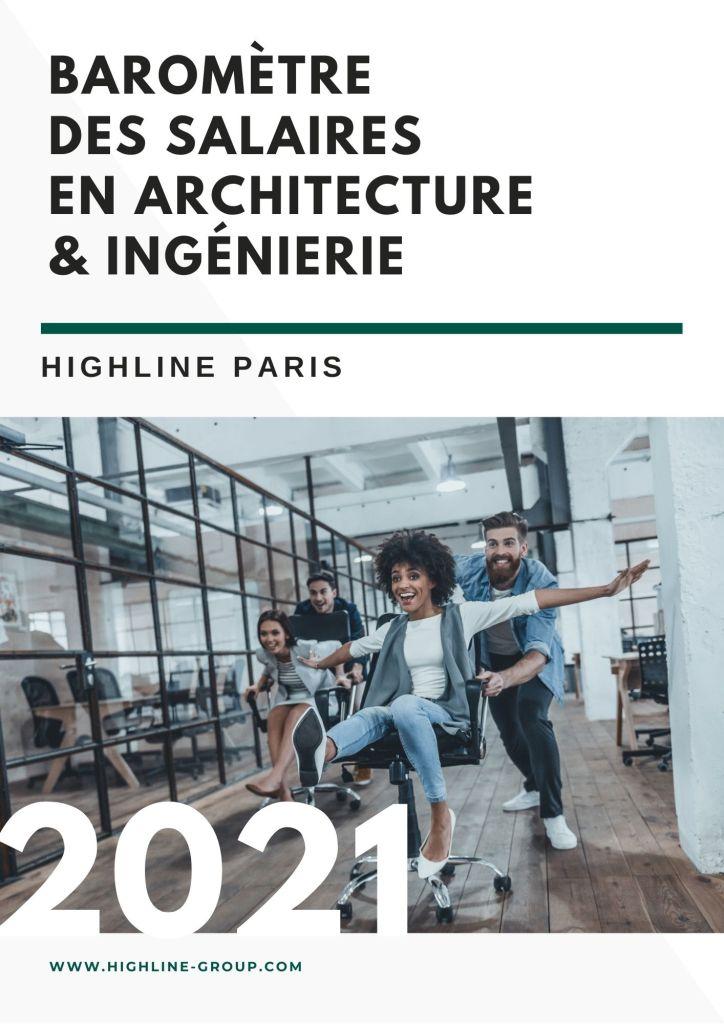 Highline - Barometre des salaires en architecture et ingenierie 2021 cover